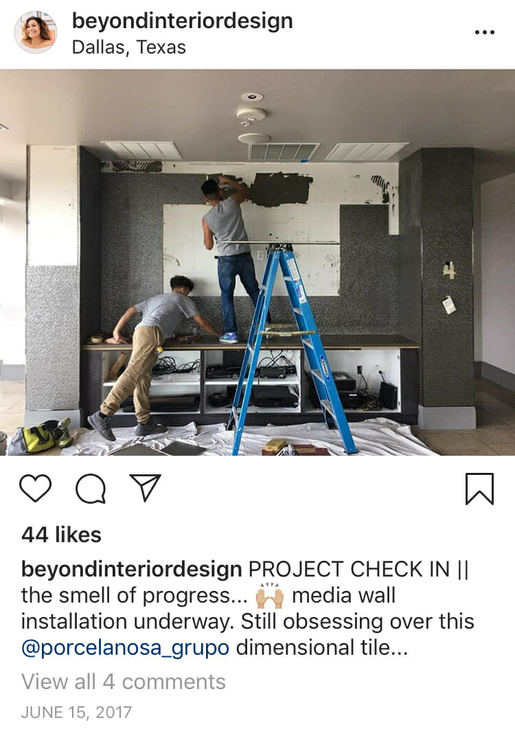installation day of interior design