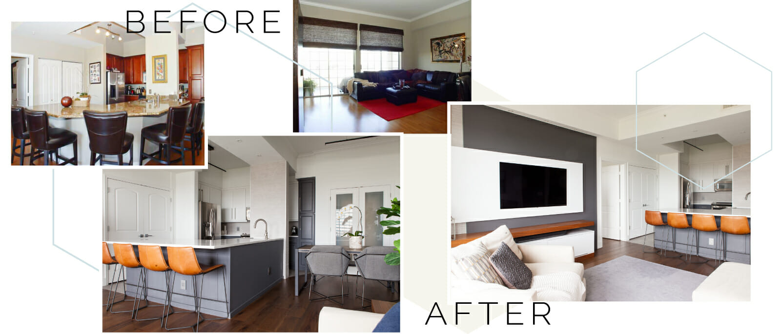 before and after modern interior design