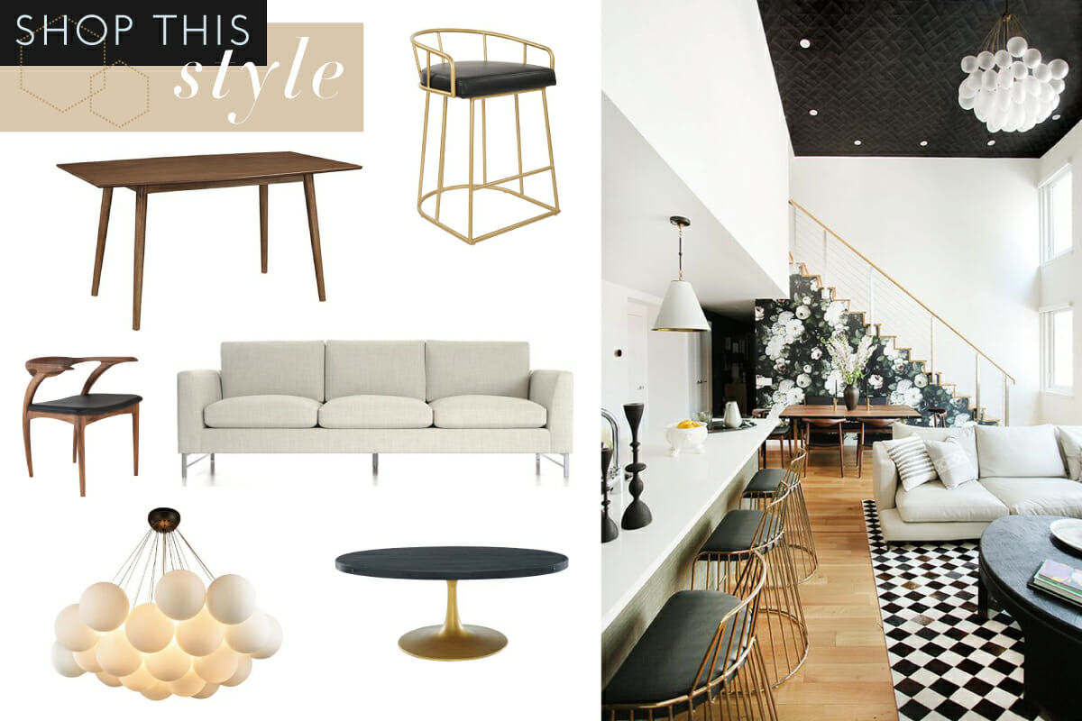 modern glam interior design