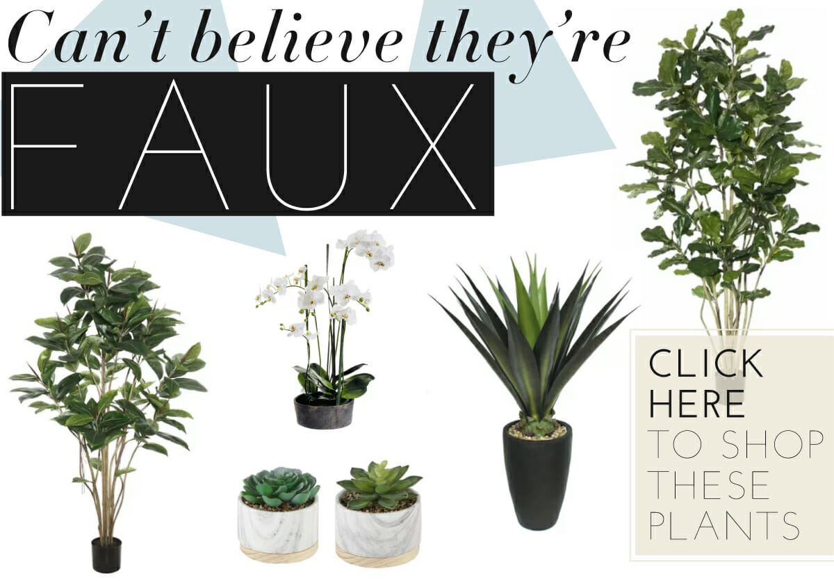 faux interior or inside plants