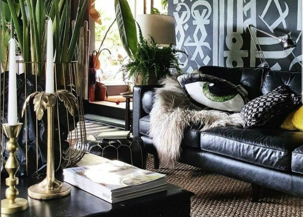 curated bohemian interior design