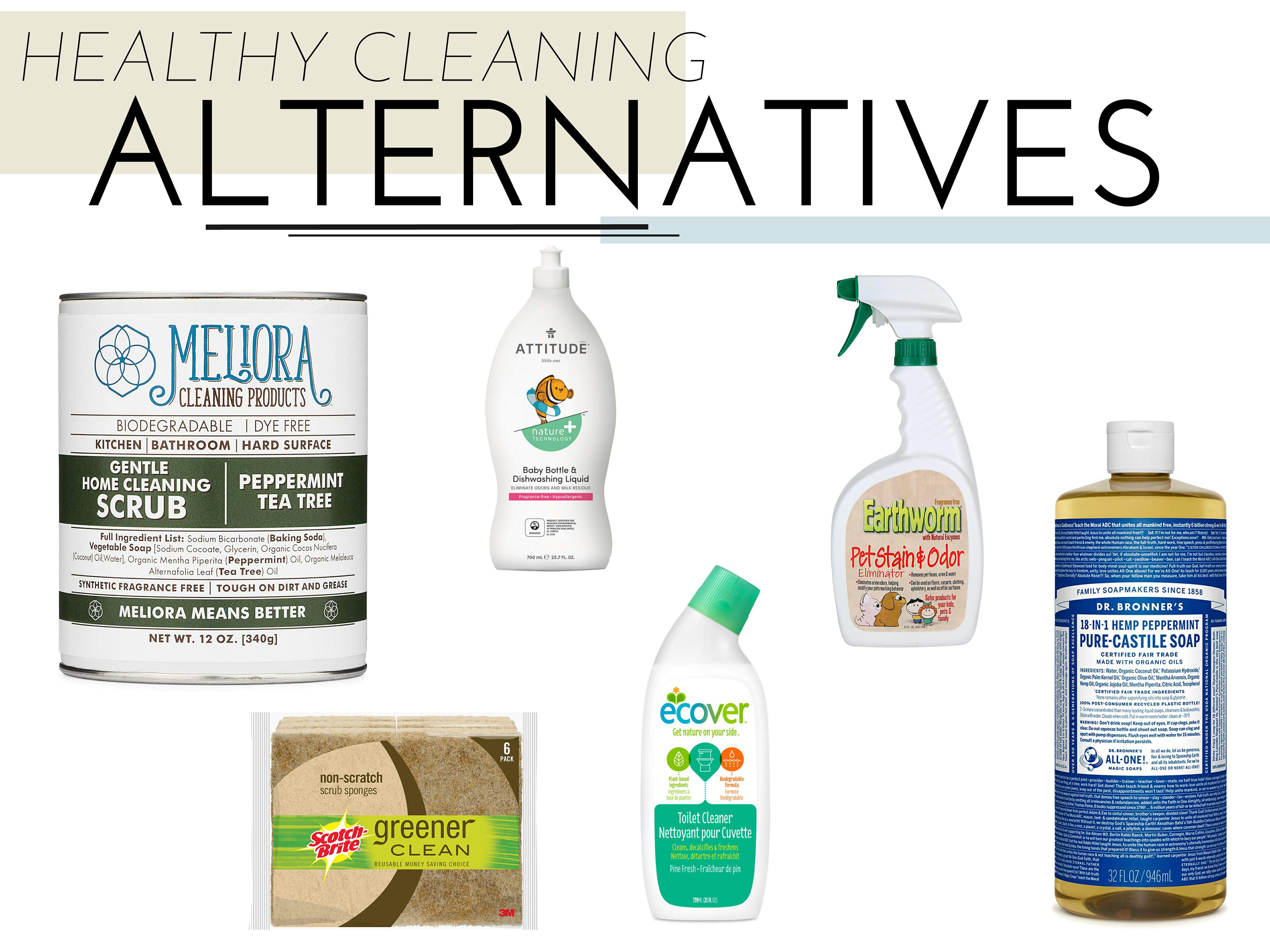 healthy cleaning products for the home
