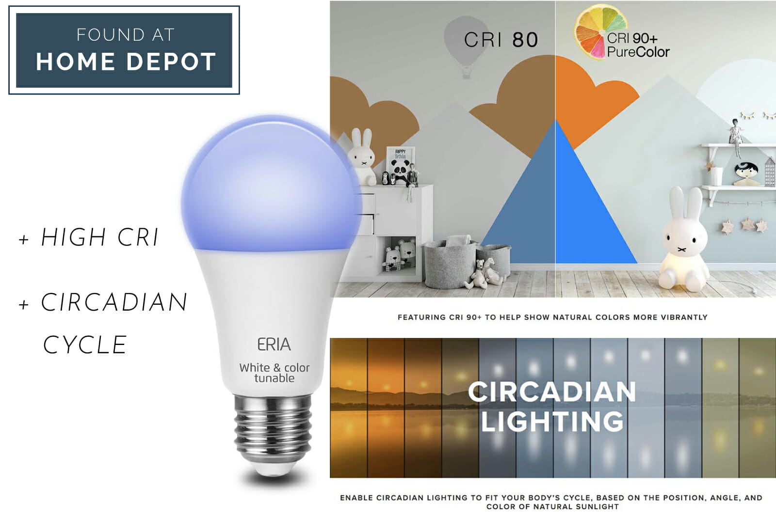 circadian lighting at Home Depot