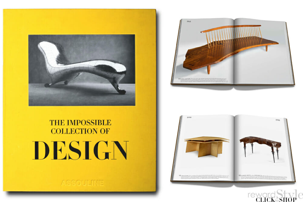 Assouline coffee table book on design