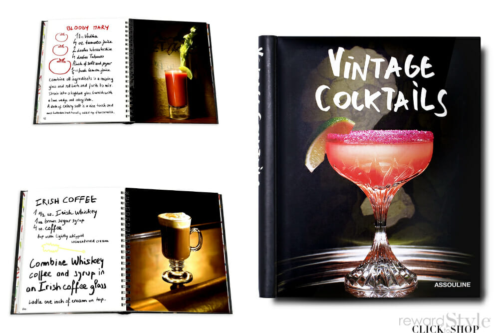 Assouline coffee table book on cocktails