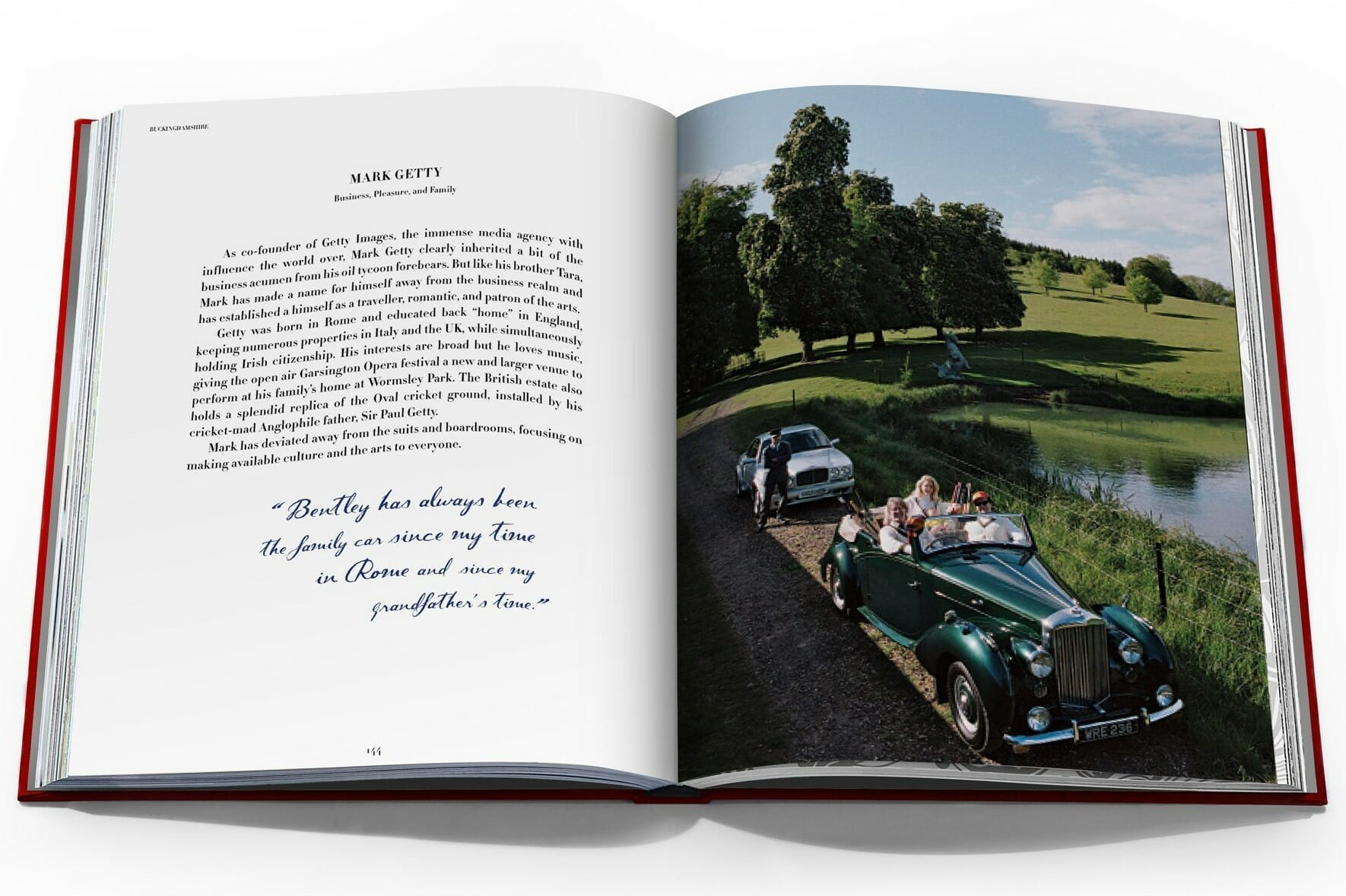 Taschen coffee table book on Bentley automobiles