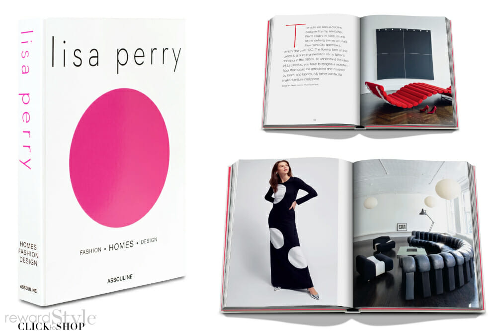 Assouline coffee table book on fashion, homes, and design