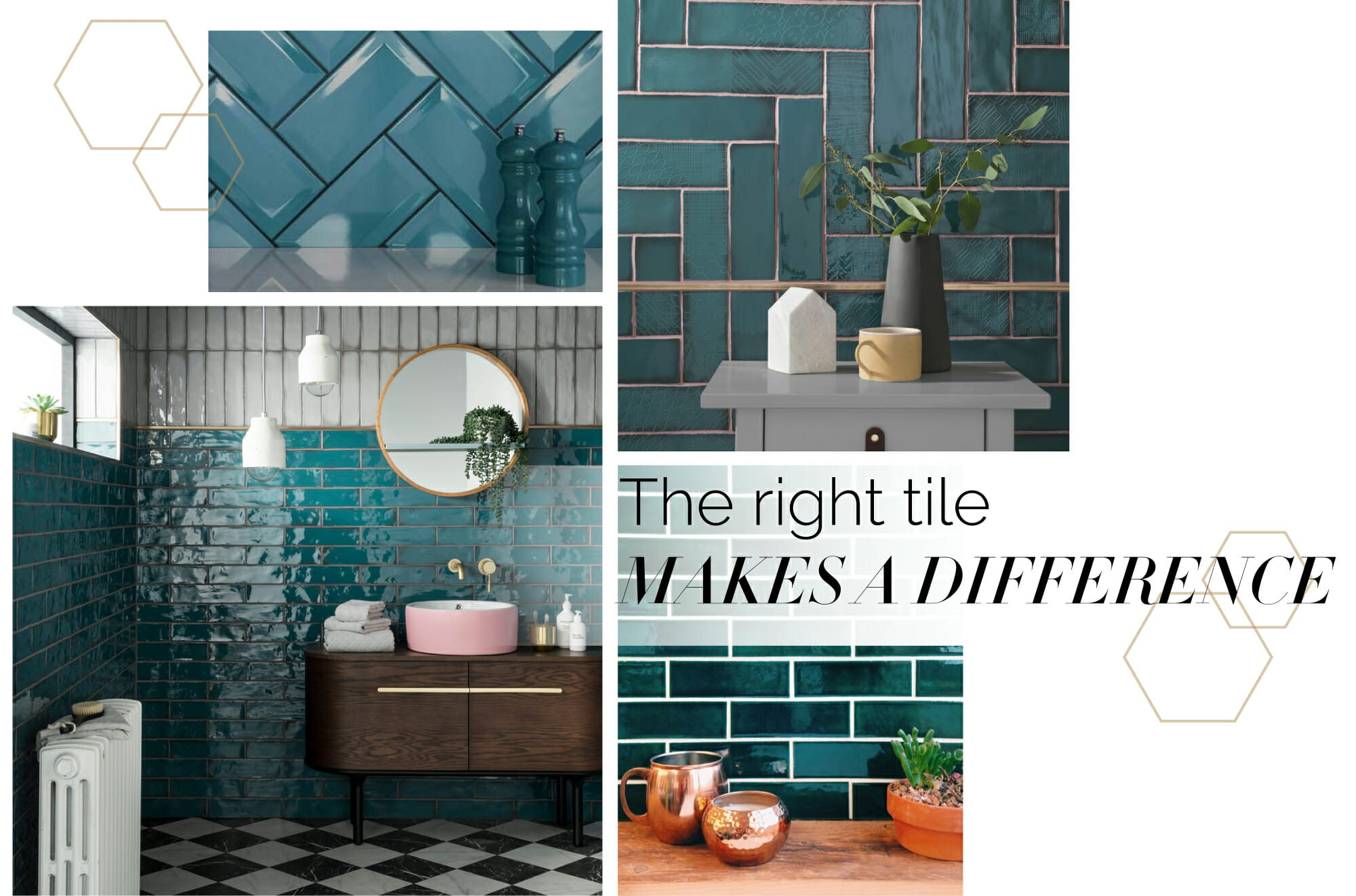 teal tile modern design