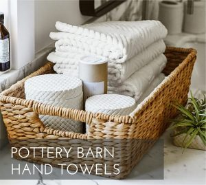 Pottery Barn hand towels